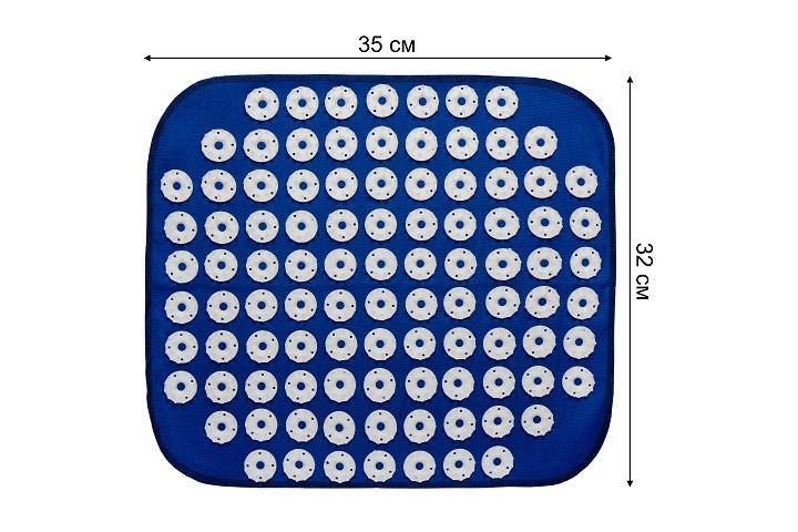 """Килимок масажний № 98/ 32 см * 35 см """"Універсал"""" акупунктурний Аплікатор Кузнєцова ,голчастий,синій,LM - зображення 1"""
