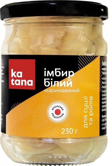 Имбирь маринованный Katana Белый 230 г (4820131230161) - изображение 1