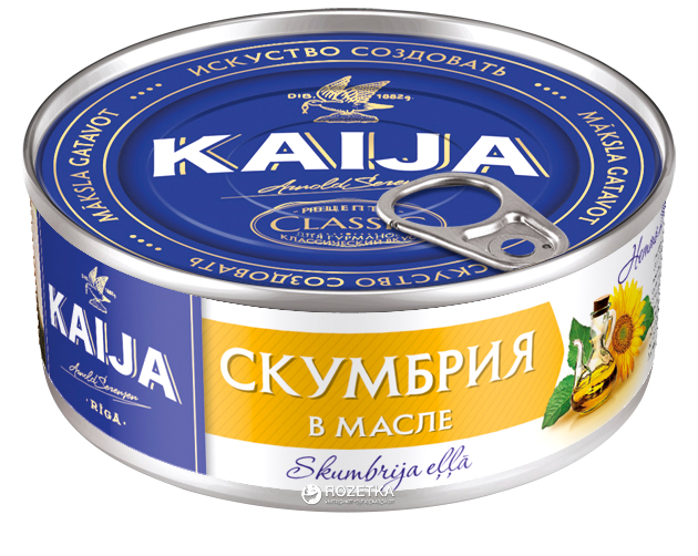 Скумбрия атлантическая в масле Kaija 240 г (4751007731225) - изображение 1