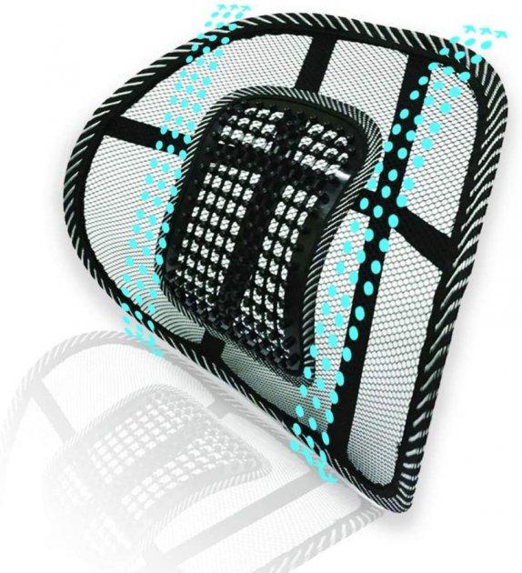 Поперековий Упор для спини масажна підставка-подушка Back Support 0791 Чорний - зображення 1