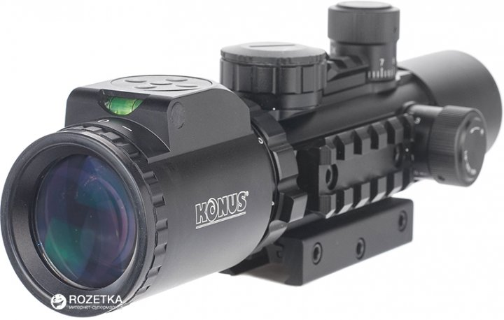 Оптичний приціл Konus Konuspro AS-34 2-6x28 Mil-Dot IR (7170) - зображення 1