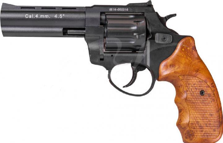 "Револьвер флобера STALKER 4.5 "". Матеріал рукояті - пластик Wood - зображення 1"