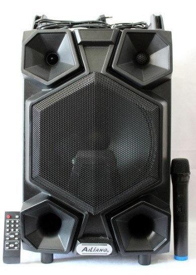 Аккумуляторная колонка Meirende UF-AR12CK-DT USB/FM/Bluetooth с микрофоном профессиональная акустика - изображение 1