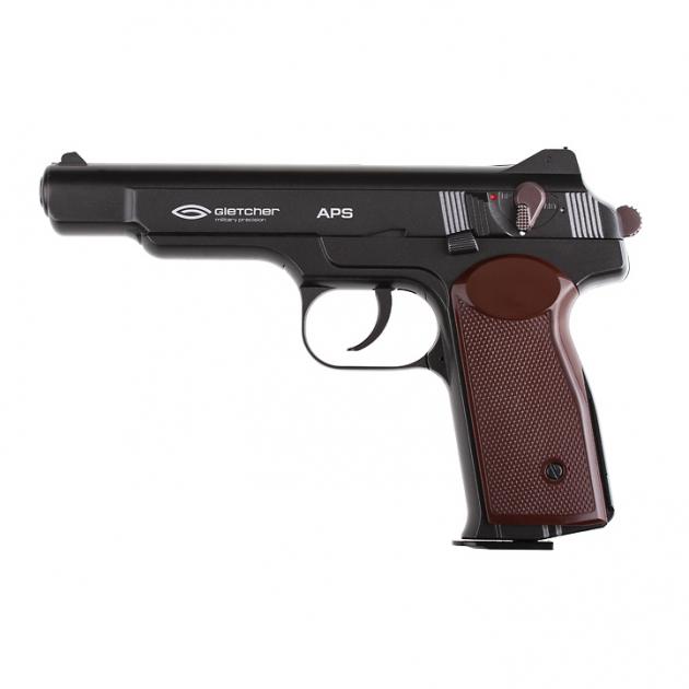 Пневматичний пістолет Gletcher APS BB Blowback Пістолет Стечкіна АПС блоубэк газобалонний CO2 120 м/с - зображення 1