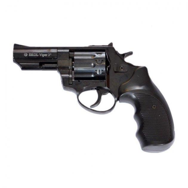 """Револьвер під патрон Флобера Ekol Viper 3"""" чорний 170 м/с - зображення 1"""