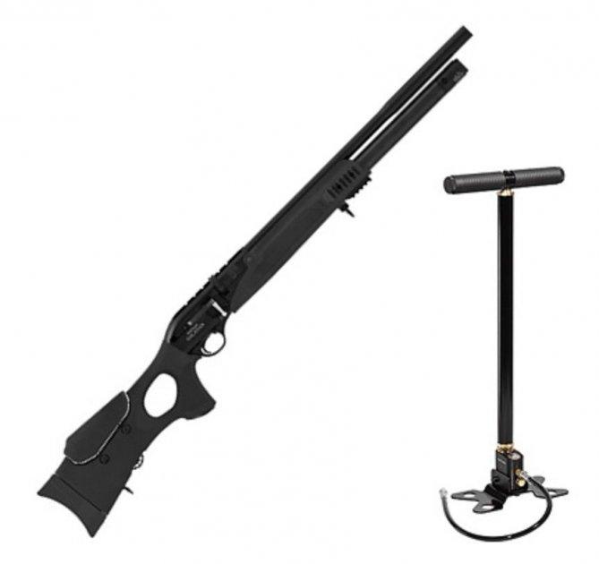 Пневматична гвинтівка Hatsan Galatian III Carbine з насосом Hatsan попередня накачування 342 м/с - зображення 1