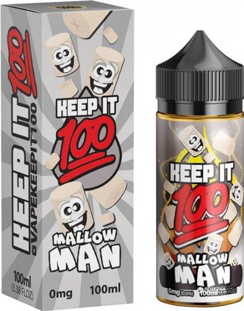 Рідина для електронних сигарет Keep It 100 Mallow Man 3 мг 100 мл (Печиво + Зефір) (K100-MM-100-3) - зображення 1