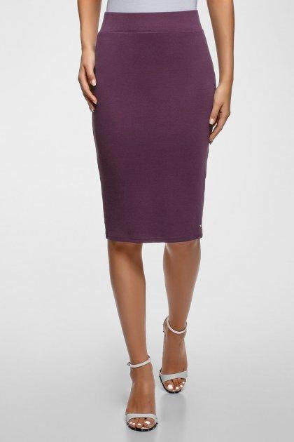 Женская фиолетовая юбка Oodji M 14101105/48037/8800N - изображение 1