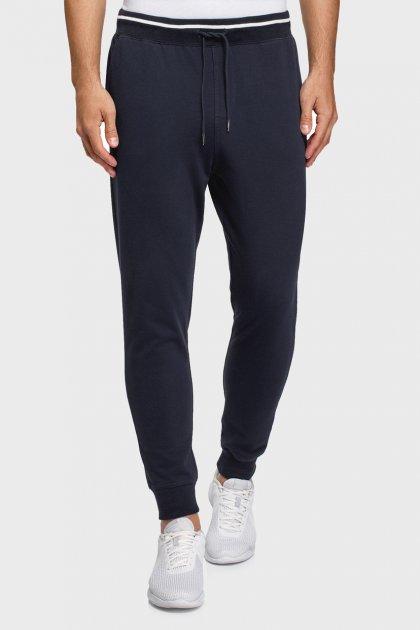 Мужские темно-синие спортивные брюки Oodji S 5B210004M/48823N/7901N - изображение 1