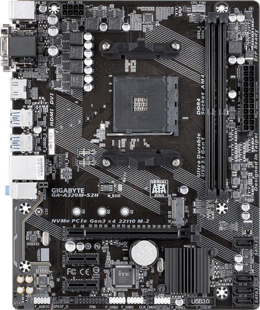 Материнская плата Gigabyte GA-A320M-S2H (sAM4, AMD A320, PCI-Ex16) - изображение 1