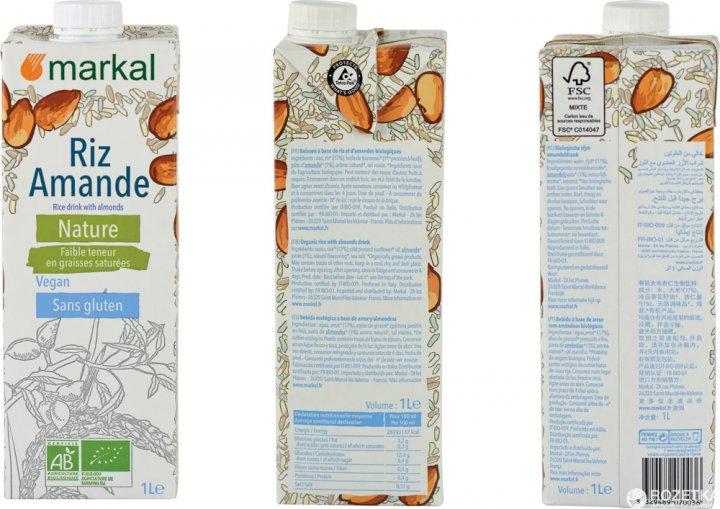 Напиток Markal Рисовый с миндалем 1 л (3329489070036) - изображение 1
