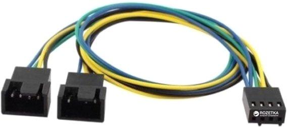 Кабель-перехідник Cooling Baby для під'єднання кулера 4-pin PWM to 2 х 4-pin PWM 0.23 м (CBFA04 - 35) - зображення 1