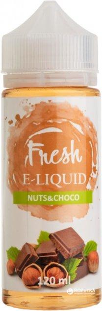 Рідина для електронних сигарет Fresh Nuts&Choco 0 мг 120 мл (Лісовий горіх + шоколад) (FR7740) - зображення 1