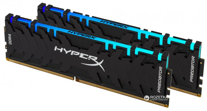 Оперативная память HyperX DDR4-2933 16384MB PC4-23500 (Kit of 2x8192) Predator RGB (HX429C15PB3AK2/16) - изображение 1