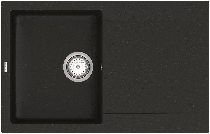 Кухонная мойка VANKOR Orman OMP 02.78 Black + сифон одинарный VANKOR Стандарт - изображение 1