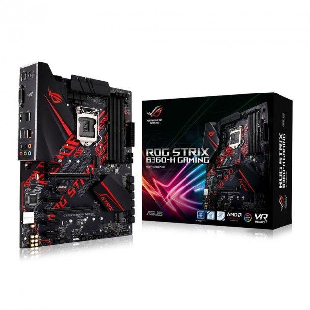 Мат. плата Asus ROG Strix B360-H Gaming Socket 1151 - зображення 1