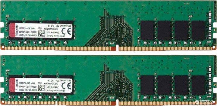 Оперативна пам'ять Kingston DDR4-2400 16384MB PC4-19200 (Kit of 2x8192) ValueRAM (KVR24N17S8K2/16) - зображення 1