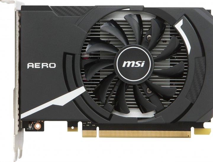 MSI PCI-Ex GeForce GT 1030 Aero ITX OC 2GB DDR4 (64bit) (1189/2100) (DVI, HDMI) (GT 1030 AERO ITX 2GD4 OC) - зображення 1
