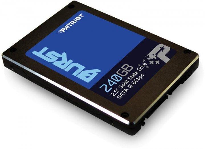 Накопичувач SSD 240GB Patriot Burst SATAIII 2.5 3D TLC (PBU240GS25SSDR) - зображення 1