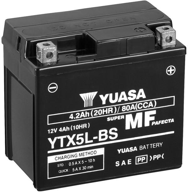 Мото аккумулятор Yuasa 12V 4Ah MF VRLA Battery AGM YTX5L-BS (сухозаряжений) (YTX5L-BS)