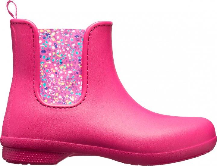 Резиновые сапоги Crocs Jibbitz Freesail Chelsea Boot W 204630-6PC-W9 39-40 25.5 см Розовые (1914482165876) - изображение 1