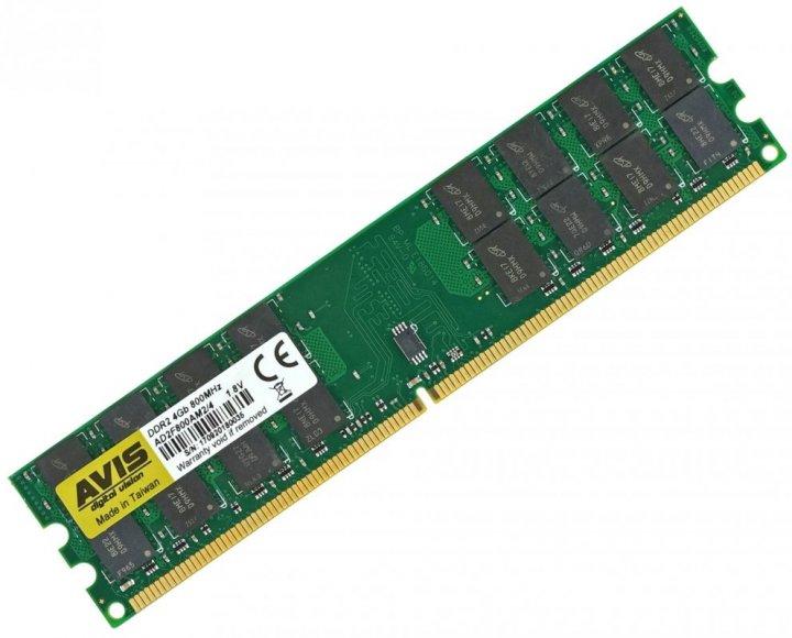 Оперативная память DDR2-800 4Gb для AMD систем PC2-6400 AVIS AD2F800AM2/4 4096MB (770008509) - изображение 1