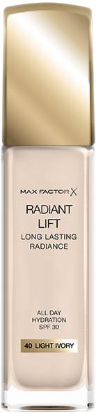 Основа тональная устойчивая Max Factor Radiand Lift Эффект сияния № 40 Light Ivory 30 мл (3614226290557) - изображение 1