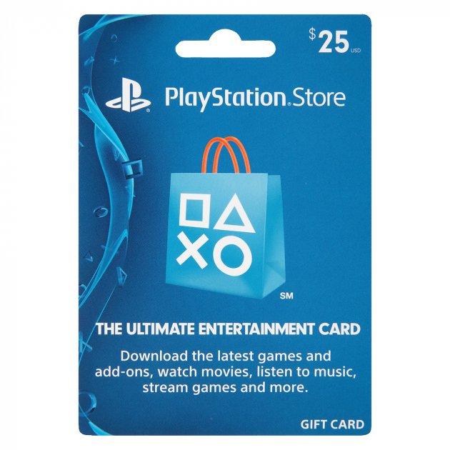Цифровий код Соні PlayStation Network поповнення гаманця (рахунки) свого аккаунта на суму 25 usd, US-регіон - зображення 1