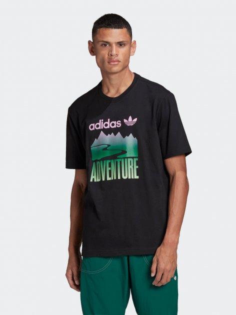 Футболка Adidas Adv Mount Tee GN2357 L Black (4064047778762) - изображение 1