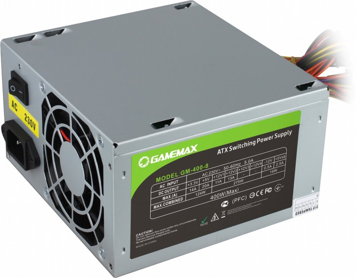 GameMax GM-400-8CM 400W - зображення 1