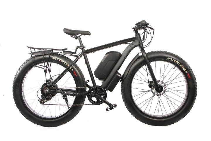 "Електровелосипед E-motion Fatbike 48V 1000 Вт 26"" чорний (ELF-BLACK) - зображення 1"