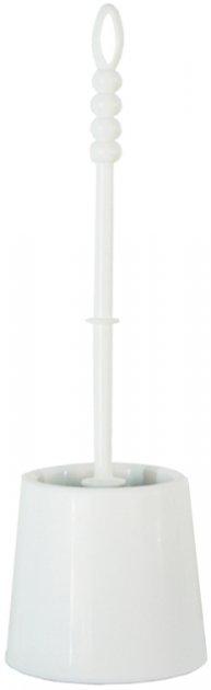 Йоржик для унітаза ZAMBAK PLASTIK Ipek 35x10 см білий (ZP84028/W) - зображення 1
