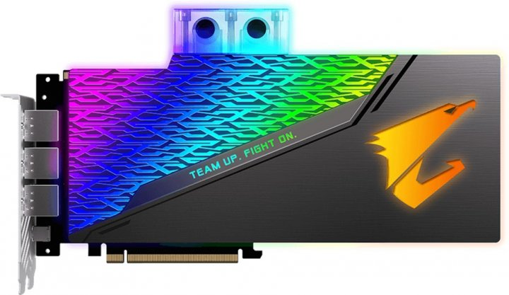 Gigabyte PCI-Ex GeForce RTX 2080 Ti Aorus Xtreme Waterforce 11GB GDDR6 (352bit) (1545/14140) (Type-C, 3 x HDMI, 3 x DisplayPort) (GV-N208TAORUSX WB-11GC) - изображение 1