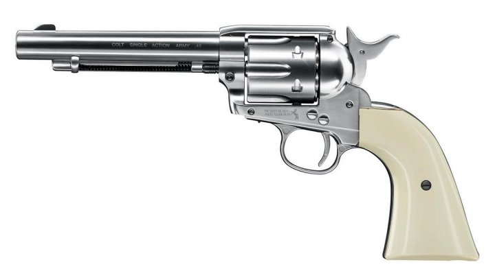 Пистолет пневматический Umarex Colt Single Action Army 45 (пульки) White - зображення 1
