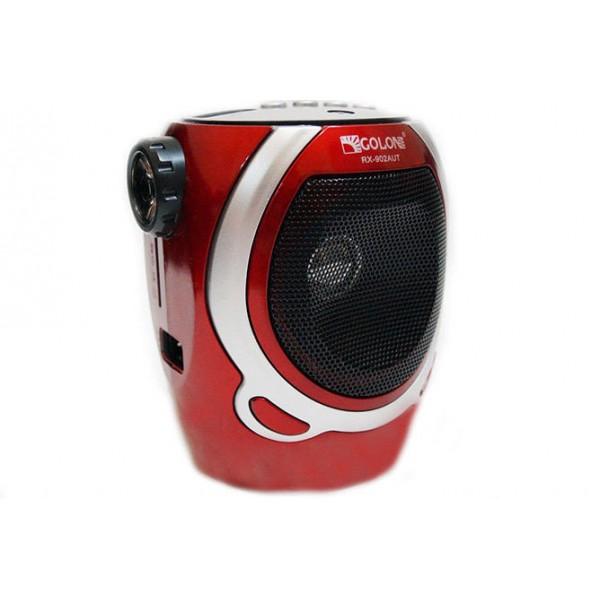 Акустическая система Golon аккумуляторное FM радио со встроенным фонариком и портом USB колонка радиоприемник Красный (RX-902) - изображение 1