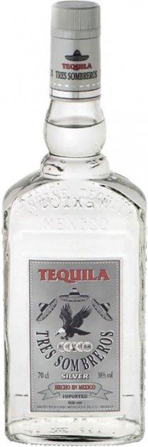 Текила Tres Sombreros Silver 38% 0.7 л (8414771854601) - изображение 1
