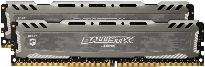 Оперативная память Crucial DDR4-3200 16384MB PC4-25600 (Kit of 2x8192) Ballistix Sport LT Grey (BLS2K8G4D32AESBK) - изображение 1