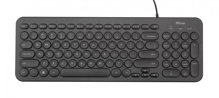 Клавіатура Trust Trust Muto Silent USB Black (23408) - зображення 1