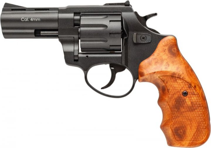 """Револьвер под патрон Флобера 4 мм. Stalker S 3"""" Brown (силуминовый барабан) - изображение 1"""