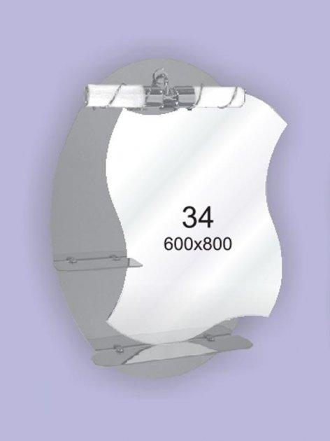 Зеркало для ванной комнаты 600х800 Ф34 БЕЗ СВЕТИЛЬНИКА - изображение 1