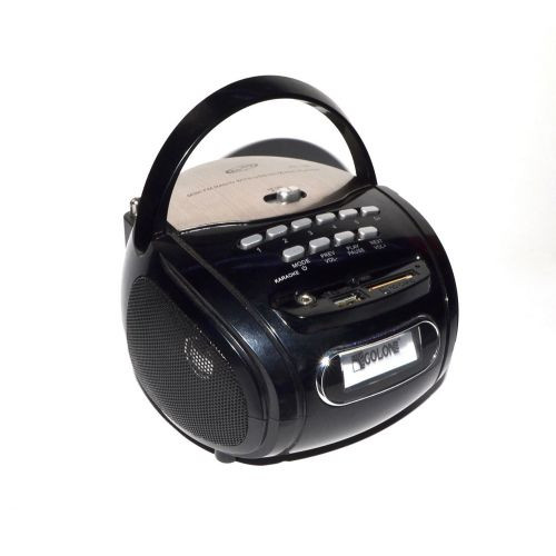 Бумбокс колонка караоке годинник MP3 Golon RX 686Q Black - зображення 1