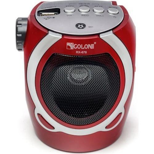 Портативна колонка радіо караоке MP3 USB Golon RX-678 Red - зображення 1