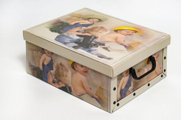 Коробка картонная с пластиковыми ручками Evoluzione 40 х 50 х 25 см Мальчики мастера (13) - зображення 1