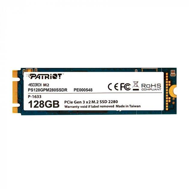 Твердотільний накопичувач M. 2 128Gb Patriot Scorch PCIE 4x TLC 1700/415 MB/s PS128GPM280SSDR - зображення 1