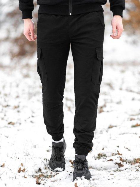 Штани спортивні чоловічі BERSENSE WINTER STYLE карго зимові чорний, M - изображение 1