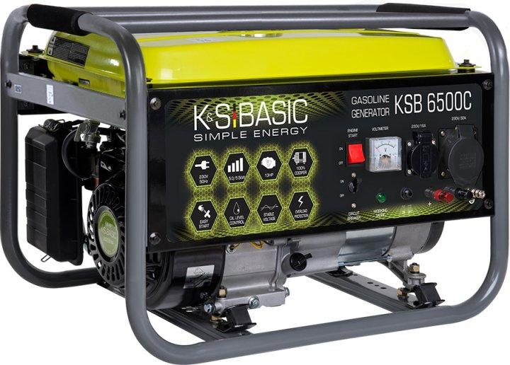 Генератор бензиновый Konner&Sohnen BASIC KSB 6500C - изображение 1