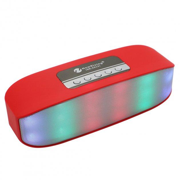 Беспроводная аккумуляторная Bluetooth колонка акустика New Rixing NR-2014 Original Red - изображение 1