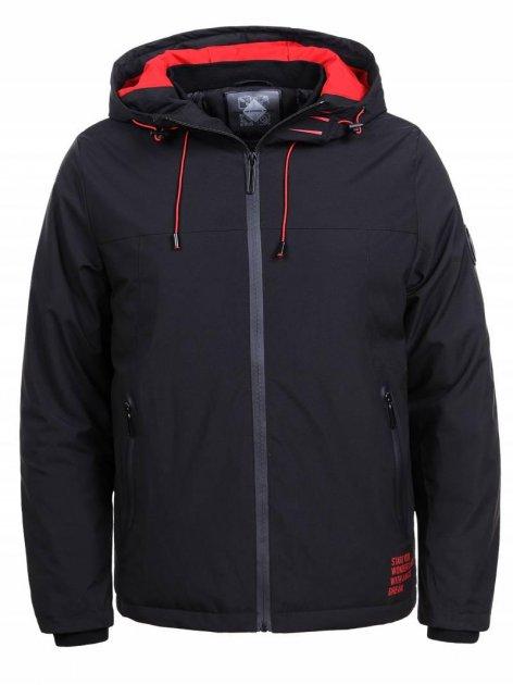 Мужская плотная куртка с капюшоном Glo-story MMA-1342 4XL Черный - изображение 1