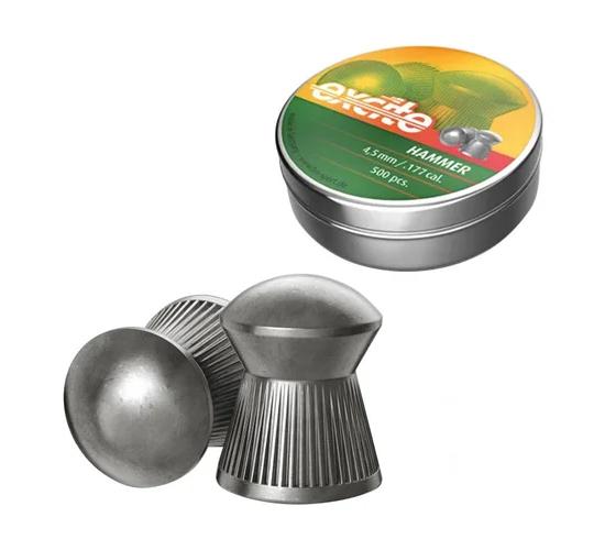Кулі пневм H & N Excite Hammer, 4,5 мм, 0.5г, 500шт / уп - изображение 1