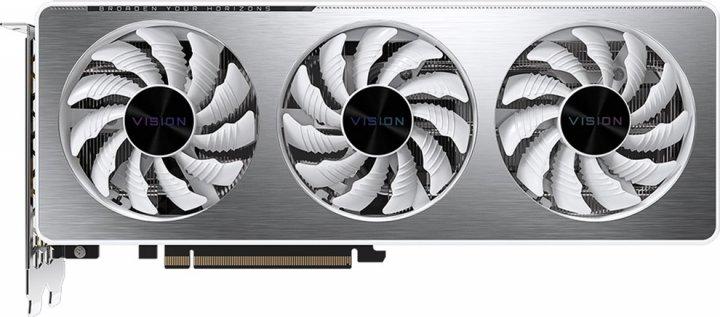 Gigabyte PCI-Ex GeForce RTX 3060 Vision OC 12G 12GB GDDR6 (192bit) (15000) (2 х HDMI, 2 x DisplayPort) (GV-N3060VISION OC-12GD) - зображення 1